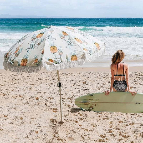 바질뱅스 Basil Bangs Beach Umbrella - Ananas for Surf Lodge