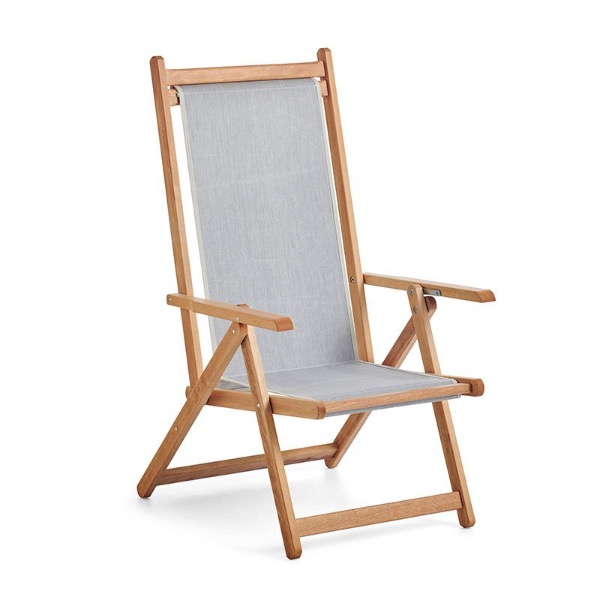 Monte Deck Chair - Titanium